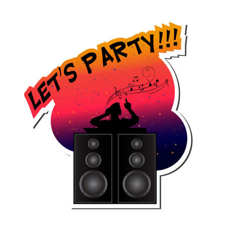 Lets party Stock Illustratie