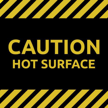 Hot surface sign Ilustração