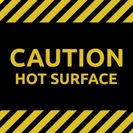 Hot surface sign Illustration