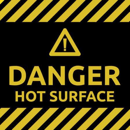 Hot surface sign Illustration