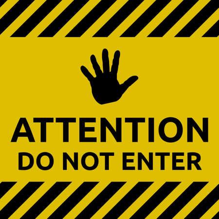 no entrance: Do not enter sign
