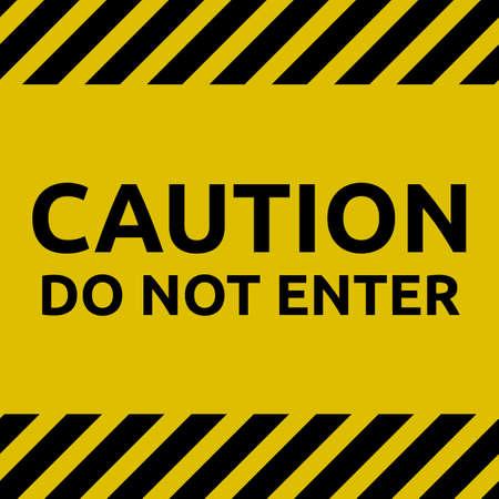Plain do not enter sign