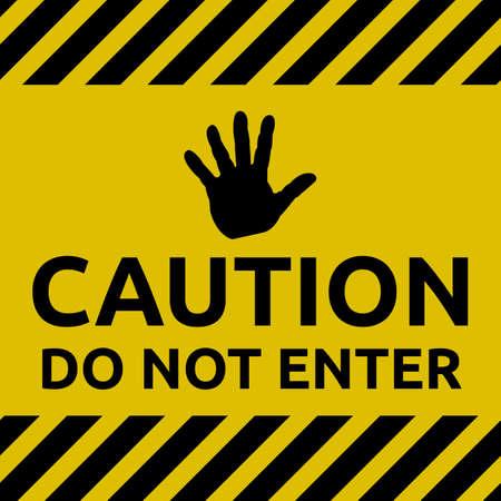 Alert do not enter sign