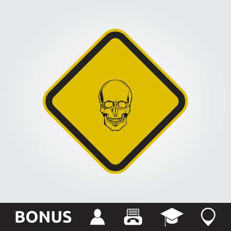 Caution Toxic Square Sign