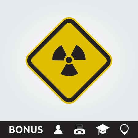 dangerous construction: Radioactive Square Sign