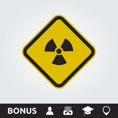 Radioactive Square Sign