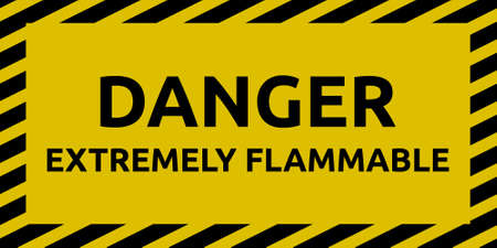 caution chemistry: Extremely Flammable Sign