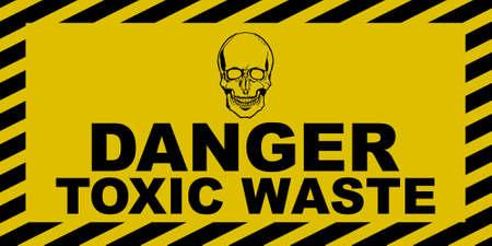 Toxic Waste Sign Illustration