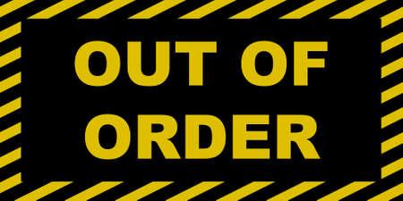 Out of order Zeichen Vektorgrafik