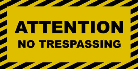 members only: No Trespassing Sign Illustration