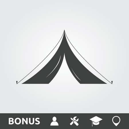 Tent flat icon Ilustração