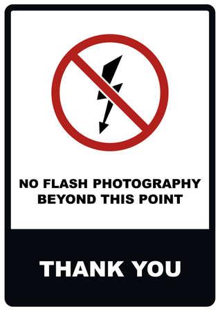 No Flash Photography Sign