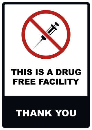This is a drug free facility sign