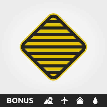 Stripes Warning/Caution sign Square 向量圖像