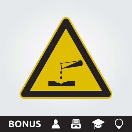 Corrosive sign Vectores