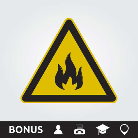 Fire Hazard Sign Illustration