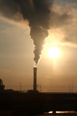 Fabrik Rauch Lizenzfreie Bilder