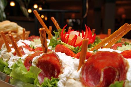 Cattering Salat Lizenzfreie Bilder