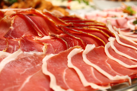 Cattering salami Stock Photo