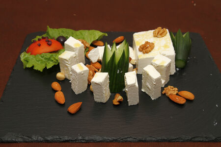 white cheese Stock Photo