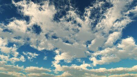 white clouds on horizon
