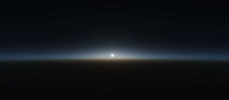 earth from space: planet sunrise from space