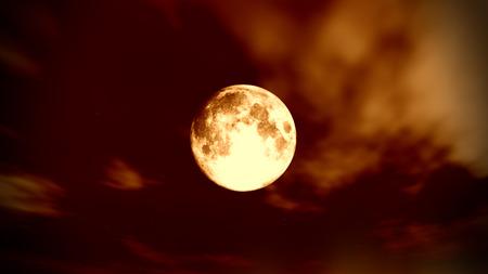 clear full moon Stock Photo
