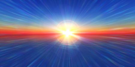 sea horizon: sunset horizon sea