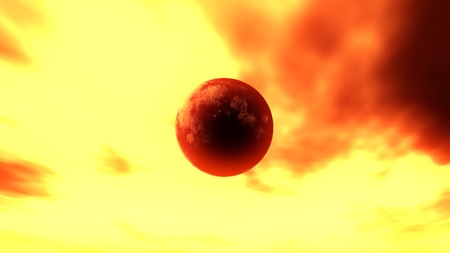 abstract planet fire