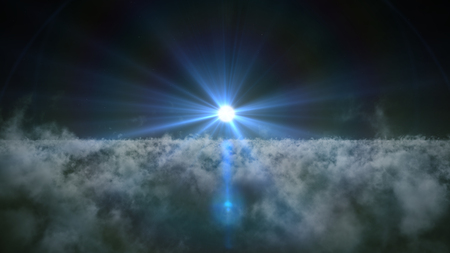 cloudscapes: Moon above clouds