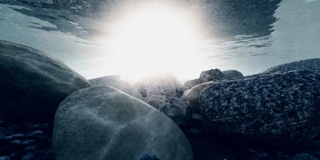 rock underwater macro