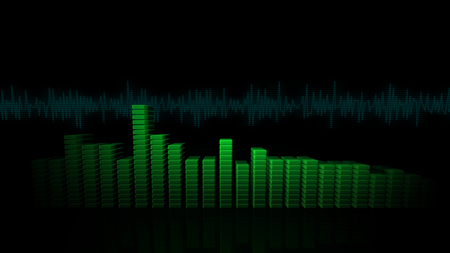 3D VU Meters Banco de Imagens