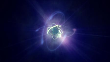 atom orbit in space