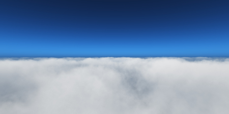 fly over clouds Stock Photo