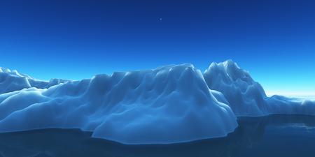 ice berg on see Stockfoto