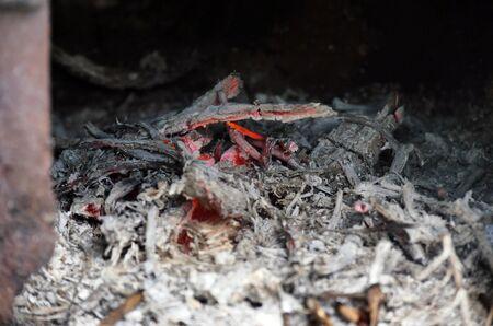 fireplace macro abstract Banco de Imagens