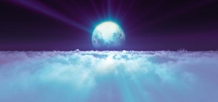 night fly full moon