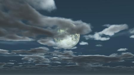 moon night sky Reklamní fotografie