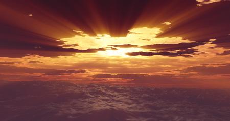 storm sea clouds sun Stock Photo