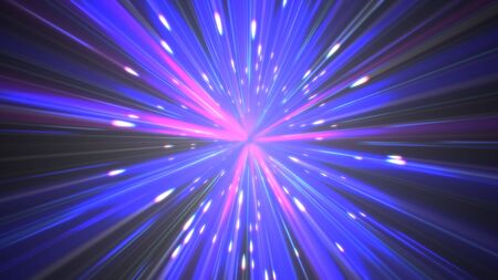 pulses star ray color abstract 写真素材