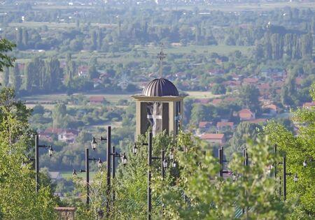 Orthodox Church monastery in mountain
