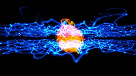 Abstract energy ball particle background