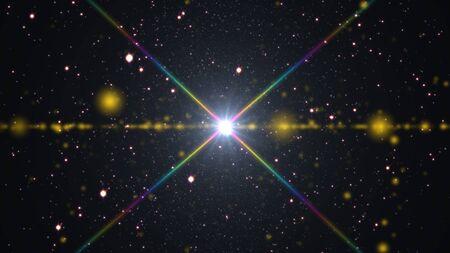 cosmos estrellas luz destello de lente