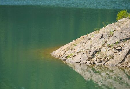 blue green lake in mountain