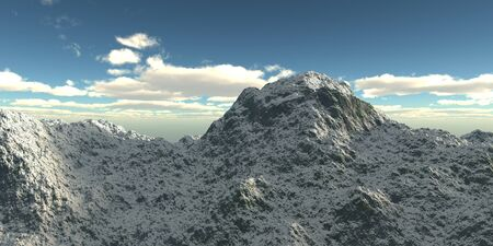 Winter high mountains with snow. 3d illustration Reklamní fotografie