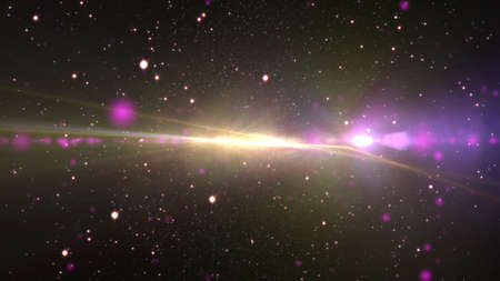 cosmos stars light lens flare in space Reklamní fotografie