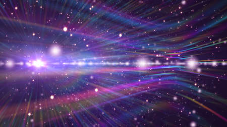 cosmos stars light lens flare in space Archivio Fotografico