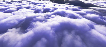 above clouds sun ray 3d render illustration Foto de archivo