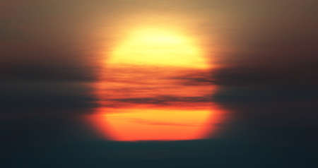 big large sun sunrise sunset, 3d render illustration