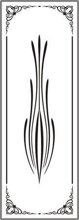 Drawing for sandblasting mirrors Stock Vector - 19379010